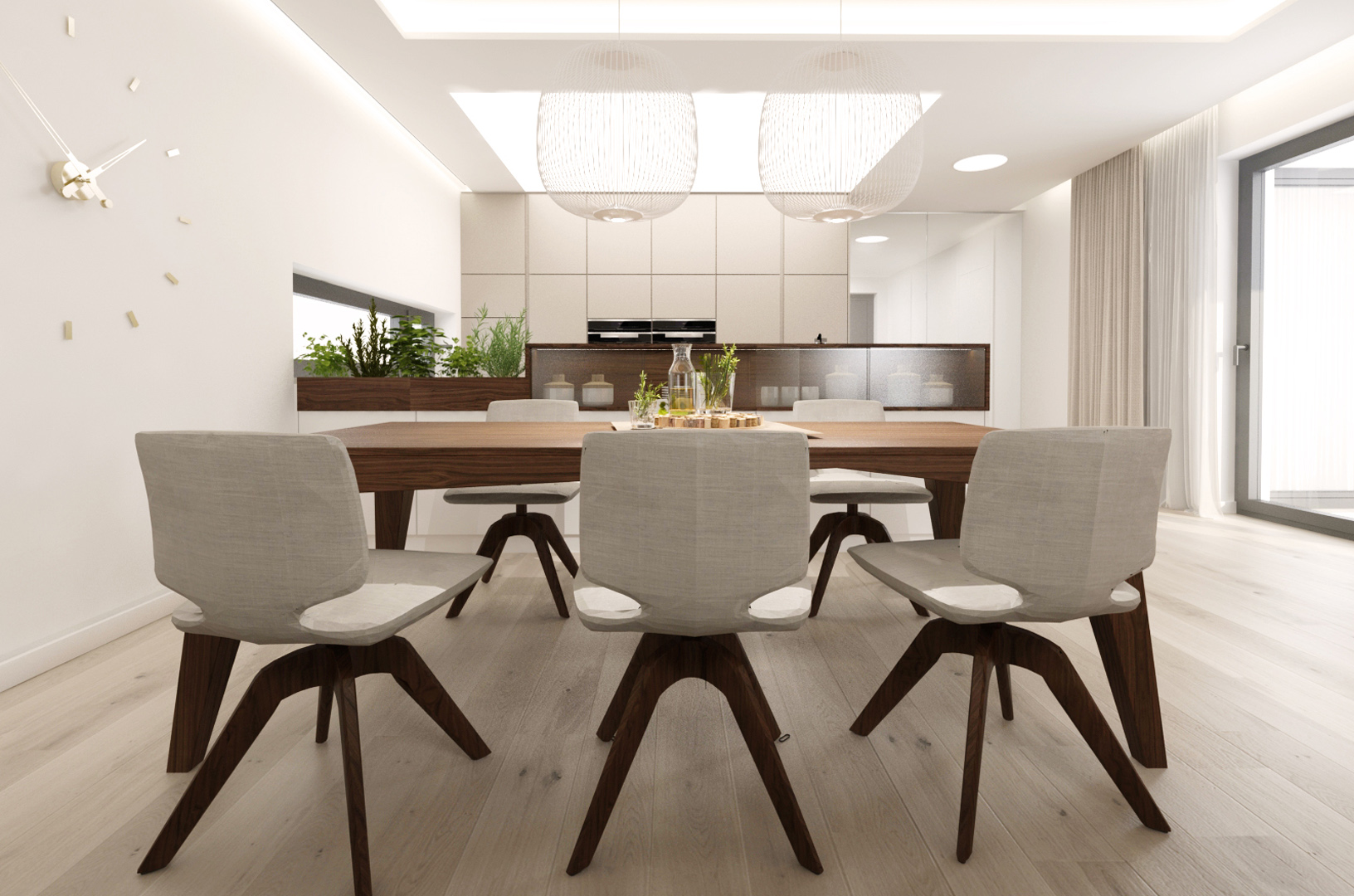 navrh jedalne, navrh kuchyne, navrh interieru kuchyne, navrh interieru, dizajn interieru, interierovy dizajner, interierovy dizajn, foscarini, spokes, dining room, kitchen design, interior design, team7 chair, aye chair, interior designer
