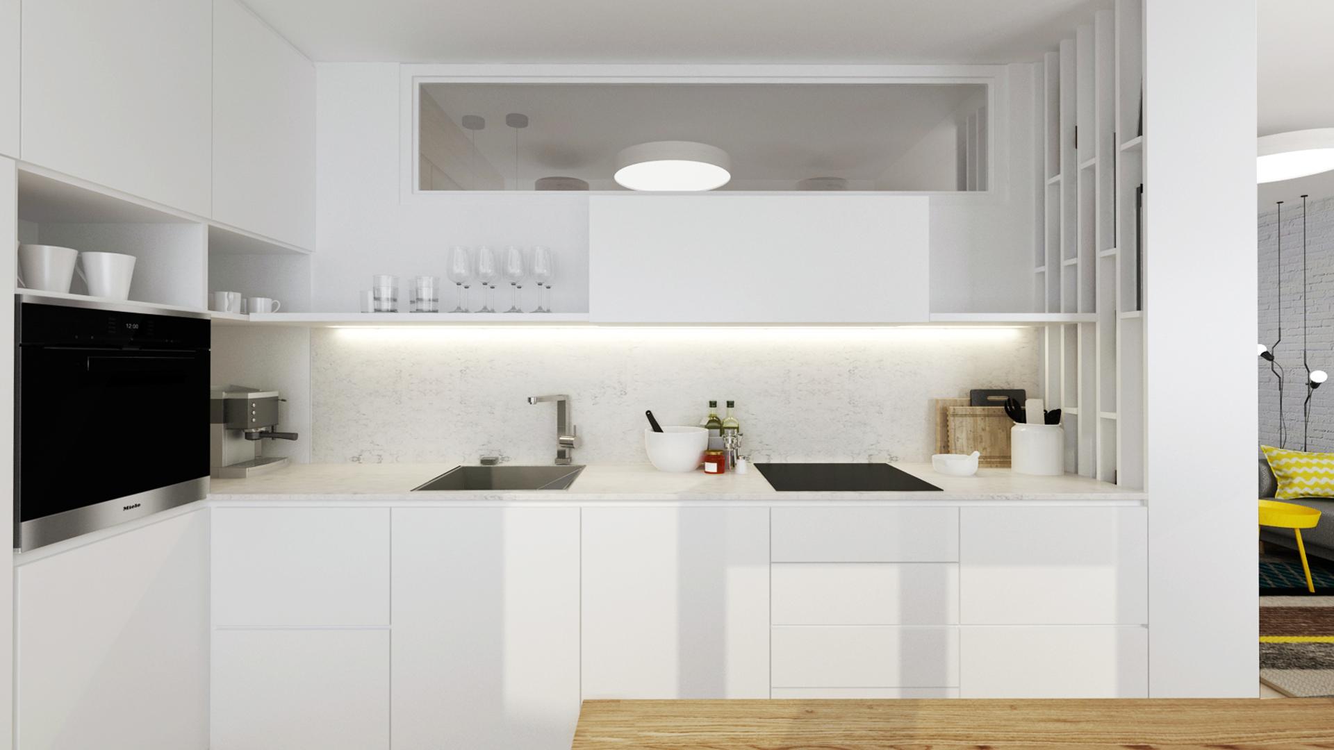 rekonstrukcia bytu, rekonstrukcia bytu bratislava, navrh interieru bytu, navrh interieru jedalne, navrh interieru, navrh kuchyne, navrh interieru kuchyne, barove sedenie, interierovy dizajn, interierovy dizajner, interior design, interior designer, veronika paluchova, flat design, reconstruction bratislava, dub, prirodny dub, white flat, white kitchen