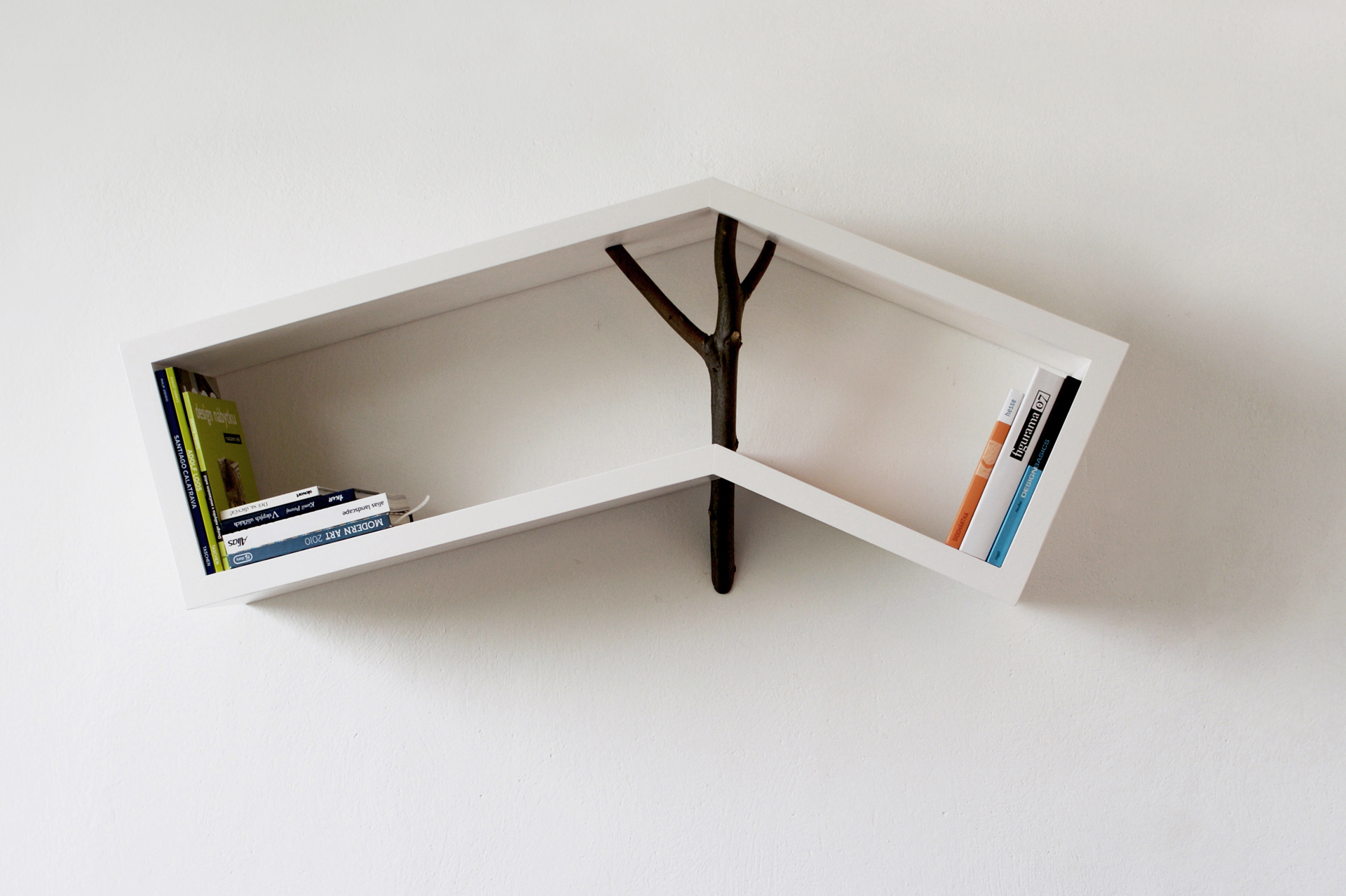 shelf, library, book shelf, design shelf, nature shelf, wood shelf, kniznica, polica, nastenna polica, prirodna kniznica, dizajn kniznice, objekt, nature bookshelf, veronika paluchova, designer, product, dizajner