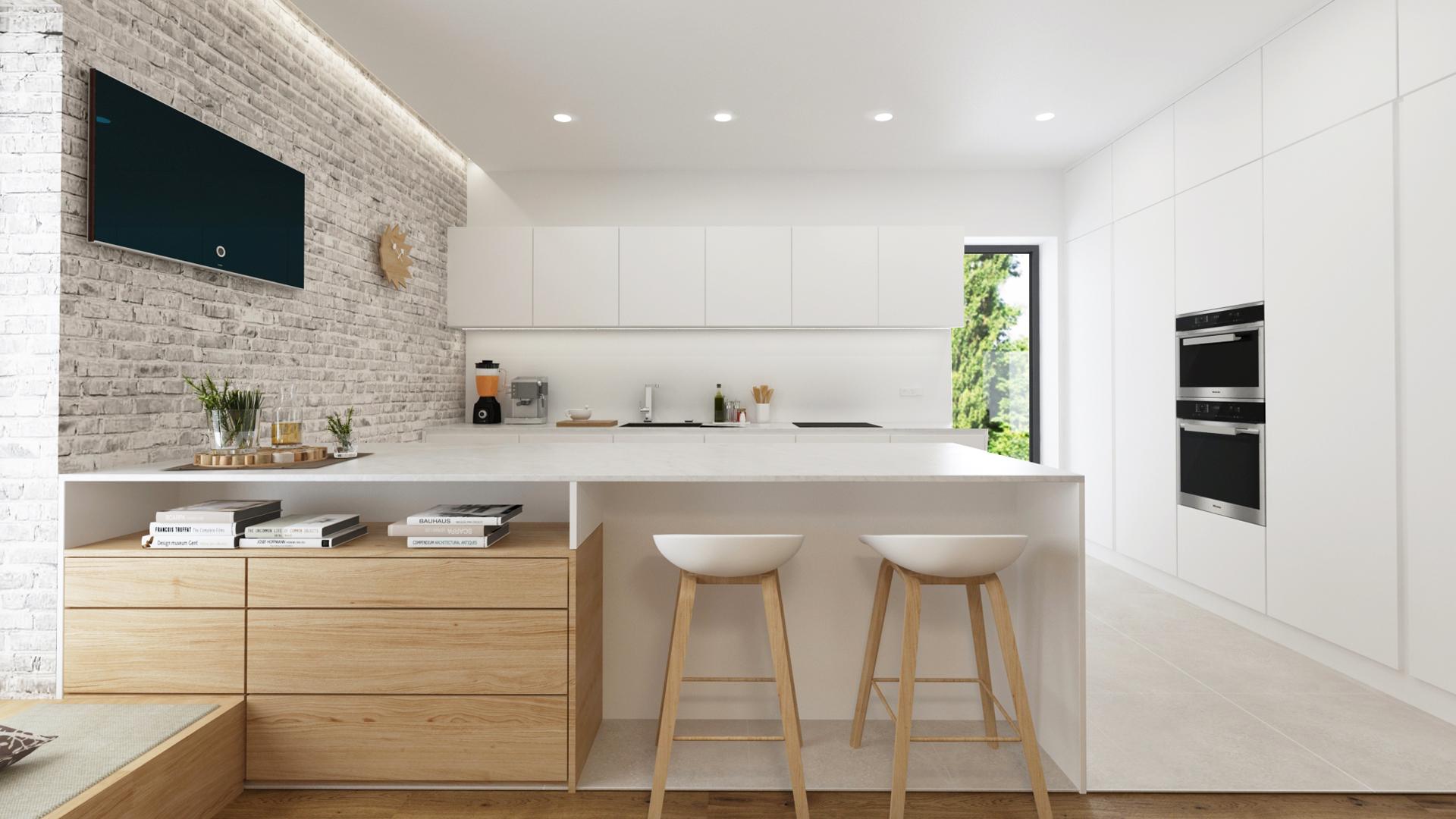 navrh interieru domu, navrh interiru stupava, navrh interieru kuchyne, vizualizacie kuchyne, vizualizacie, navrh kuchyne, dizajn jedalne, interierovy dizajner, hay chair, hay barstool, interierovy dizajn, tehlickovy obklad, navrh kuchyne s jedalnou, navrh baru, navrh interieru domu, navrh interieru bratislava, navrh rodinneho domu