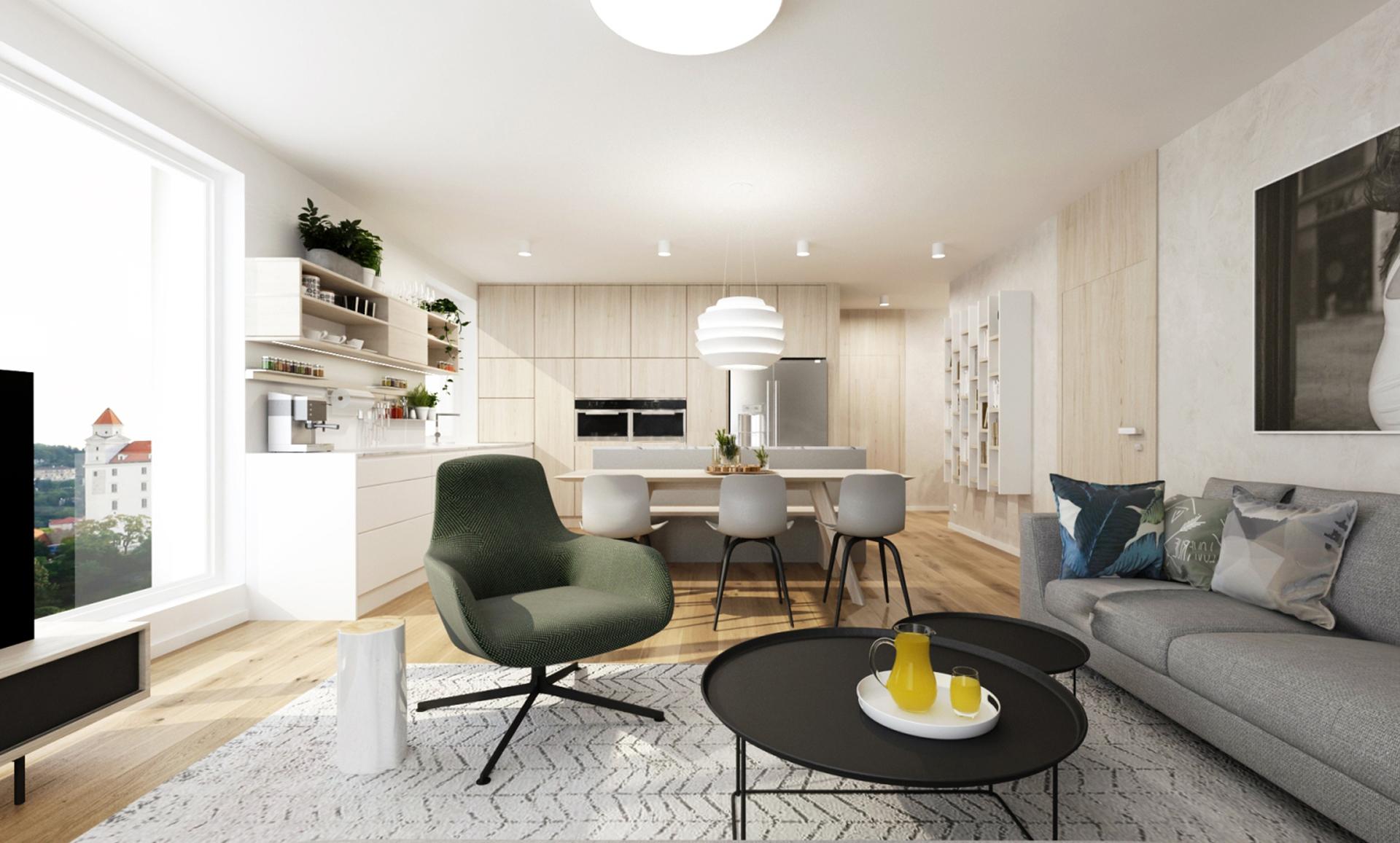 navrh interieru bytu, navrh interieru kocelova, rezidencia kocelova, navrh interieru kuchyne, vizualizacie kuchyne, vizualizacie, navrh kuchyne, dizajn jedalne, interierovy dizajner, hay chair, foscarini, le soleil, zanotta, kent armchair, interierovy dizajn, bieleny dub, navrh kuchyne s jedalnou, navrh penthouse bratislava, navrh interieru holobytu, navrh interieru bratislava