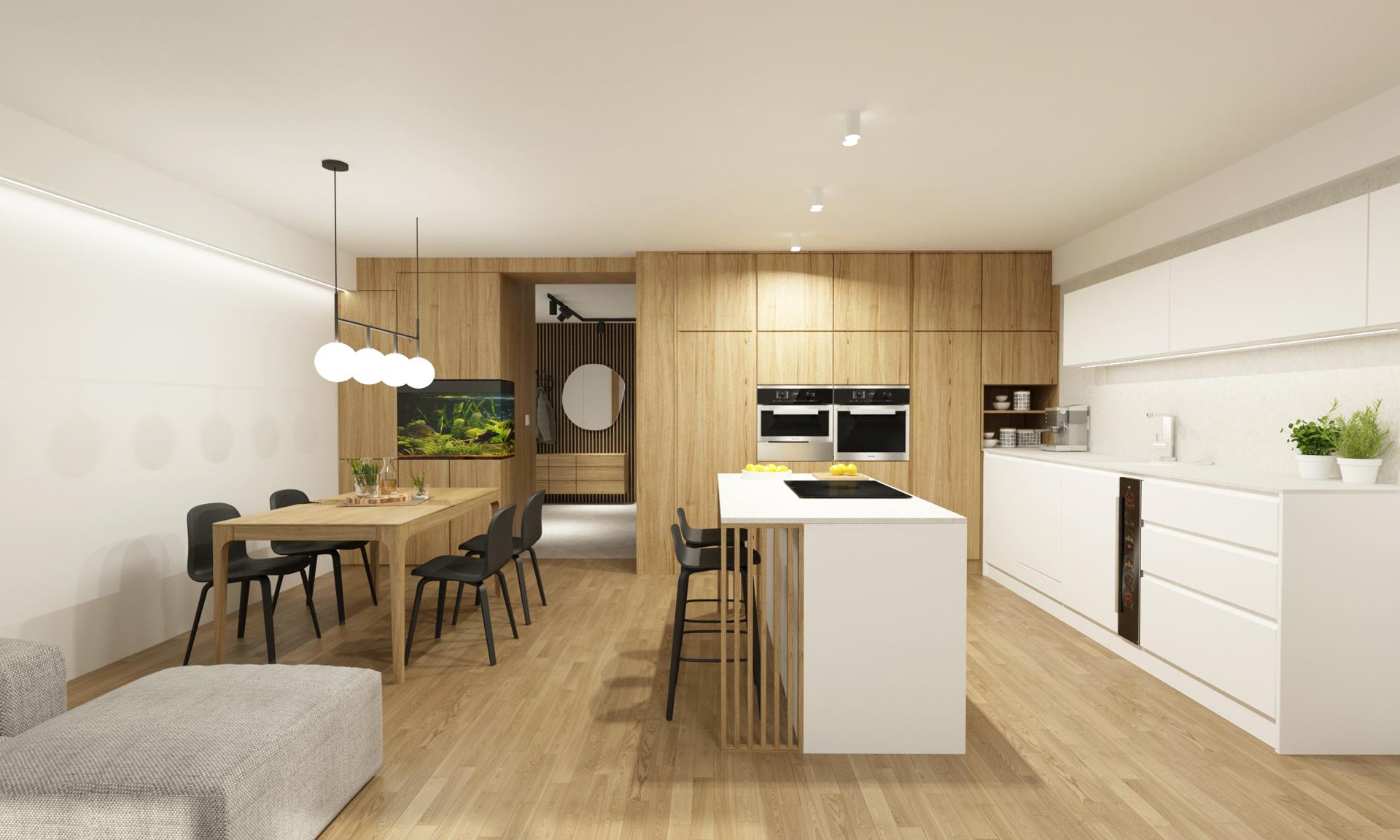 navrh interieru bytu, navrh interiru bratislava, rekonstrukcia bytu, rekonstrukcia bytu bratislava, navrh interieru kuchyne, vizualizacie kuchyne, vizualizacie, navrh kuchyne, dizajn jedalne, interierovy dizajner, muuto chair, muuto barstool, interierovy dizajn, oak interior, natural interior, navrh kuchyne s jedalnou, navrh baru, navrh interieru bytu, navrh interieru bratislava