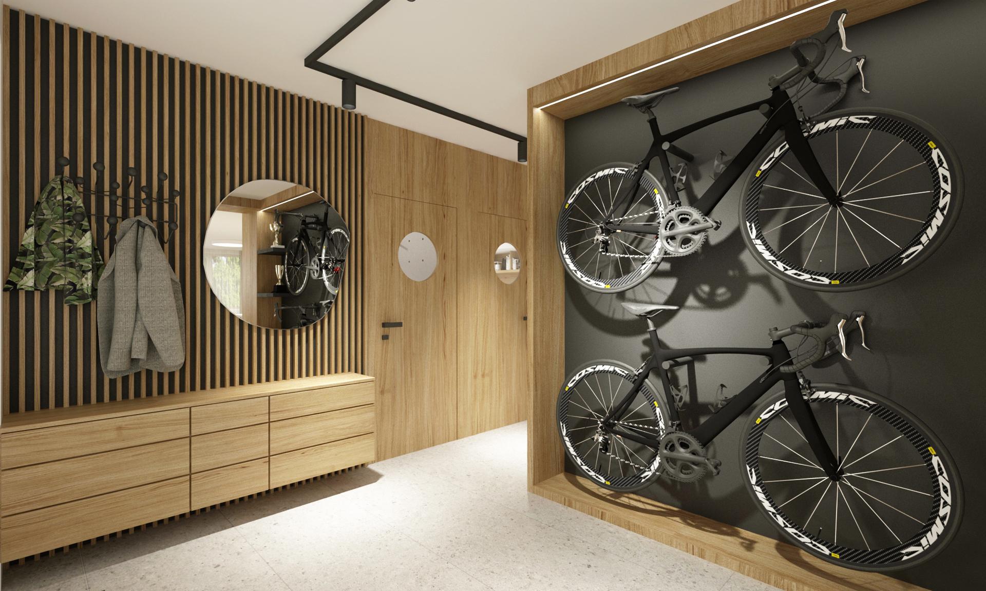navrh interieru bytu, rekonstrukcia bytu,navrh interieru bratislava, navrh interieru vstupnej chodby, navrh chodby, dizajn chodby, interierovy dizajner, interierovy dizajn, navrh haly, bike interior, sport interior, oak design, oak apartment