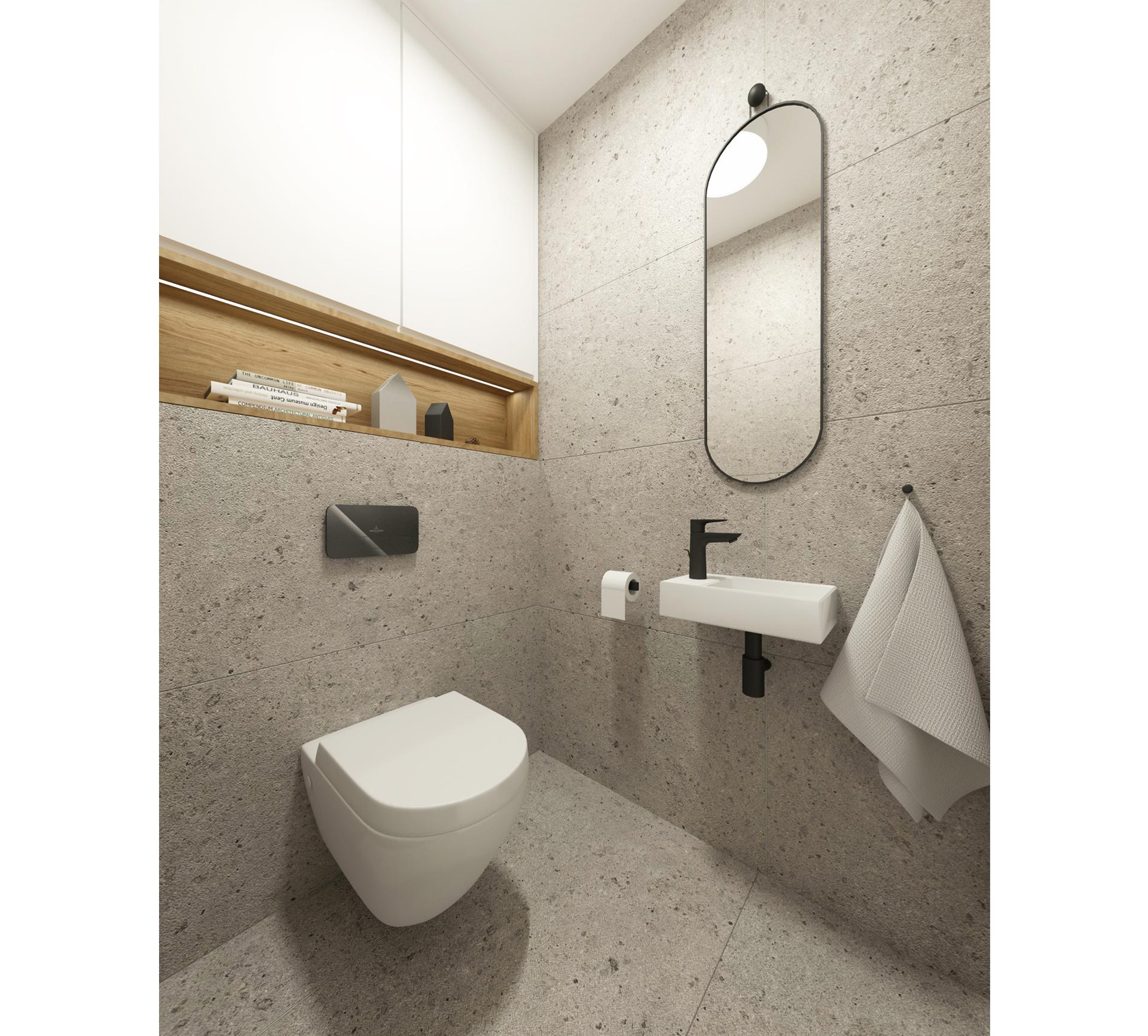 rekonstrukcia bytu, rekonstrukcia bytu bratislava, navrh wc, rekonstrukcia jadra, V&B tiles, oak, grey design, design interior, aberdeen, interior design